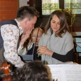 Tom Hammond (left) and soprano Dima Bawab at rehearsing in St Saviour's Church